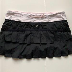 Lululemon Run: Pace Setter Skirt pink black sz 10